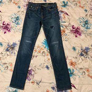 Distressed J.Crew Reid Skinny Jeans. EUC. Worn only